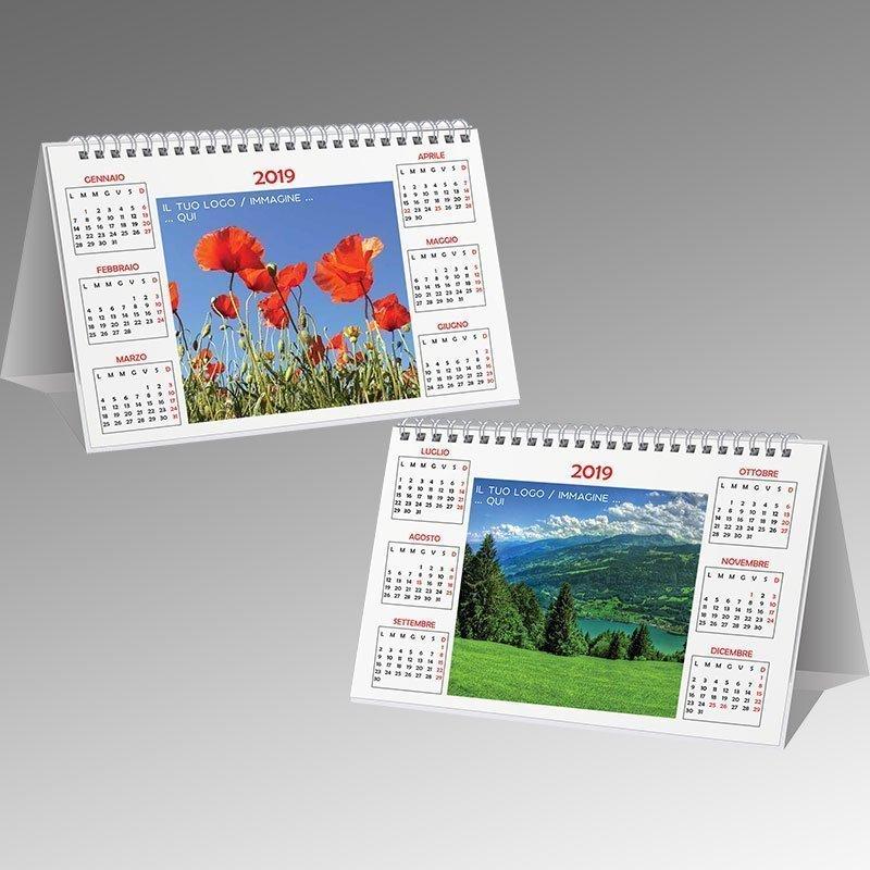 Calendario 2020 Semestrale Bianco.Calendario Semestrale