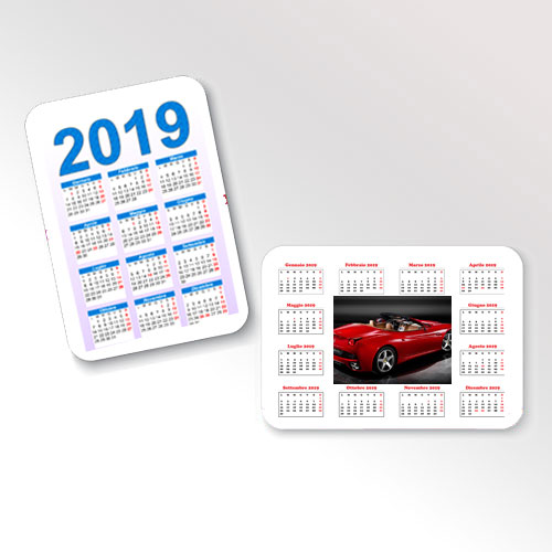 Calendari tascabili 2019